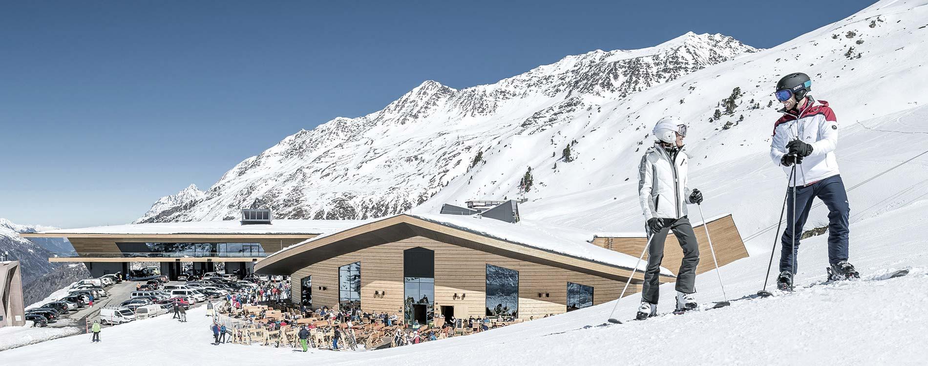 Schneesicherheit im Skigebiet Obergurgl Hochgurgl und Sölden im Ötztal Tirol Austria