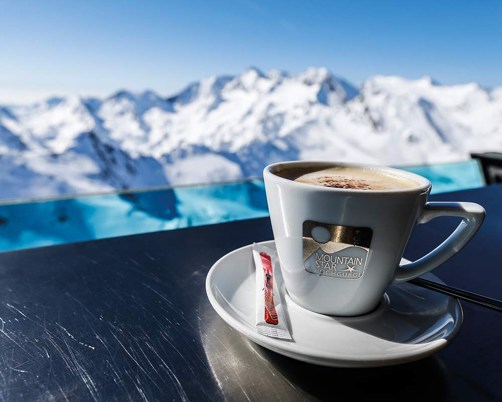 TOP Mountain Star Eating and drinking in Obergurgl-Hochgurgl ski resort Ötztal valley Tyrol