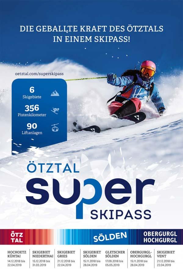 Ötztal Superskipass Tirol Austria Skirurlaub in Hochgurgl